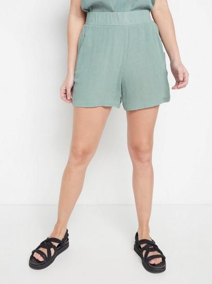 Grønn shorts med prikker Grønn