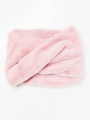 Šála zfalešné kožešiny Růžová
