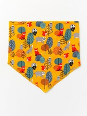 Patterned scarf with fleece lining Yellow