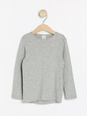 Long sleeve top in slub jersey Grey