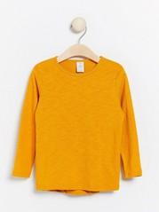 Long sleeve top in slub jersey Yellow
