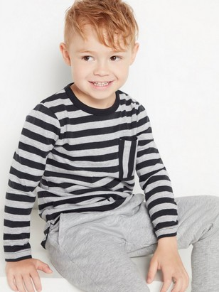 Striped long sleeve top Grey
