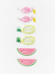 6-pack Hair Clips with Fruits Pink