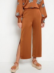 LYKKE Wide trousers with slit Yellow