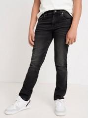 Narrow fit svarta jeans i denimjersey Svart