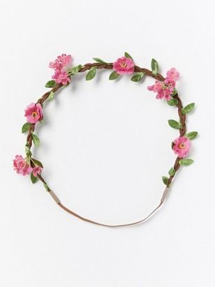 Hårband med blommor  Rosa