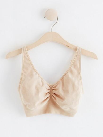 Pehmeät saumattomat rintaliivit Beige