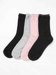Sada 4párů ponožek Růžová