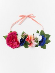 Hårband med stora blommor  Rosa