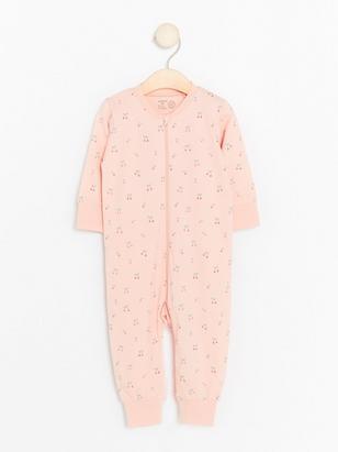 Rosa pyjamas med körsbär Rosa
