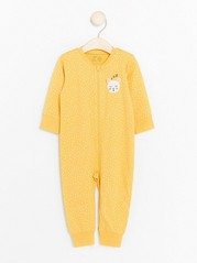 Gul pyjamas med prikker Gul