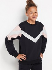 Sweatshirt with brushed inside Black