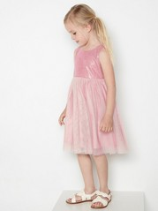 Pink tulle dress with sequins Pink
