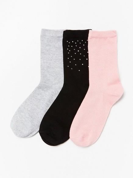 Sada 3párů ponožek Růžová