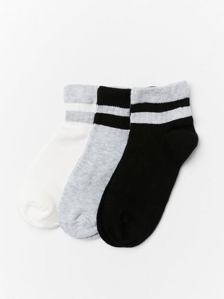 Lyhytvartiset sukat, 3 paria Harmaa