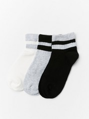 3-pack socks with short shaft  Grey