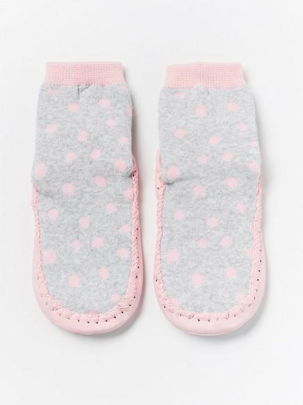 Mokasiner med rosa prikker Rosa