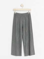 Wide pleated jersey trousers Grey