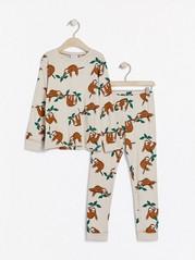 Pyjamas med sengångare Beige