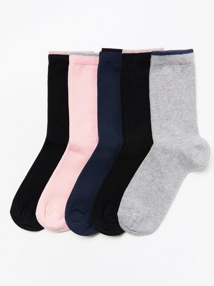 5-pack socks Blue