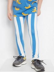 Striped Leggings Blue