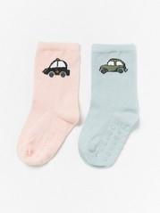 Autokuvioiset sukat, 2 paria Aqua