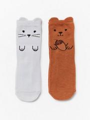 Ponožky smotivem zvířátek Šedivá