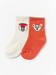 Eläinkuvioidut sukat, 2 paria Oranssi