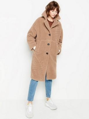 Huňatý kabát Hnědá