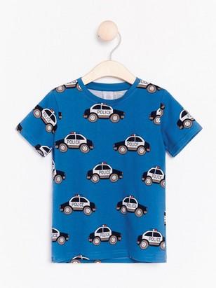 Tričko smotivem policejních aut Modrá