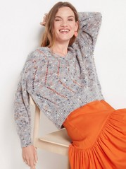 Multicoloured knitted jumper  Lilac