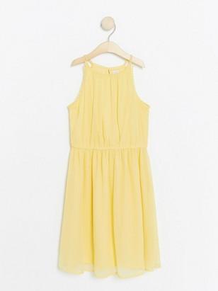 Yellow Chiffon Dress Yellow