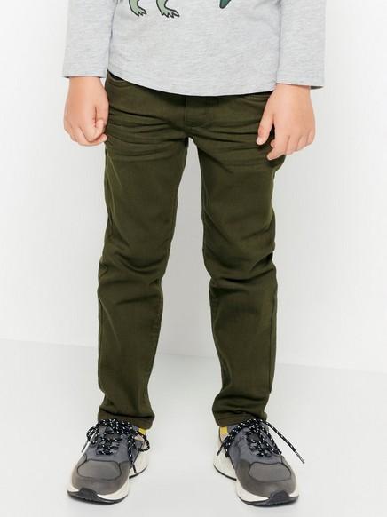 Bukser i tvill med vanlig passform Grønn