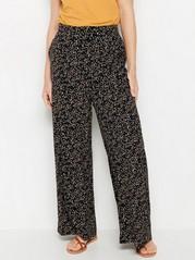 Vzorované kalhoty Černá