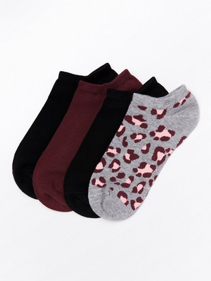 Varrettomat sukat, 4 paria Punainen