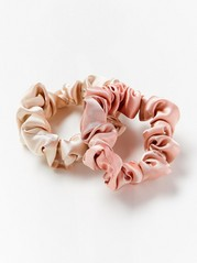 2-pack Satin Scrunchies  Pink