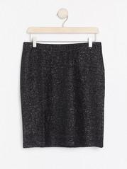 Třpytivá mini sukně Šedivá