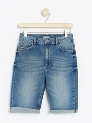Mid Blue Denim Shorts  Blue