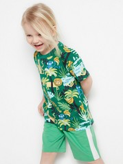Oversized t-shirt with jungle print Green