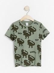 T-shirt with dinosaurs Khaki
