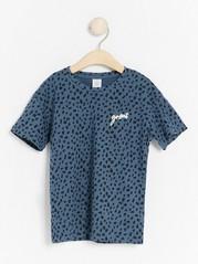 Oversized short sleeve t-shirt with pattern Black
