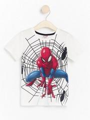 Vit t-shirt med Spindelmannen-tryck Vit