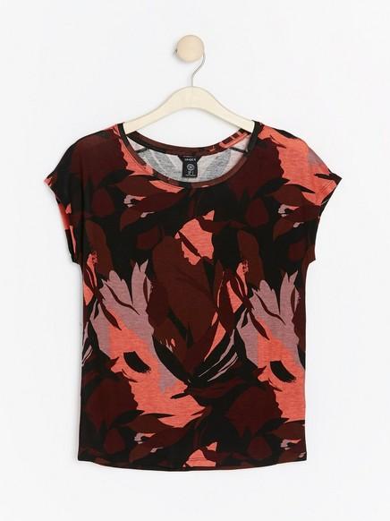 Kuvioitu pusero lyocell-sekoitetta Punainen