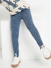 Patterned leggings Blue