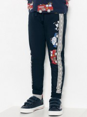 Sweat pants with firetrucks and police cars Blue