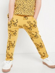 Yellow sweatpants with tigers Yellow