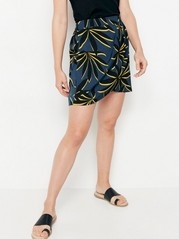 Kort mönstrad kjol  Turkos