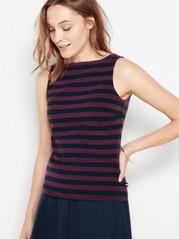 Striped cotton top  Blue