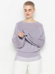 Fine-knit jumper in lyocell blend  Lilac