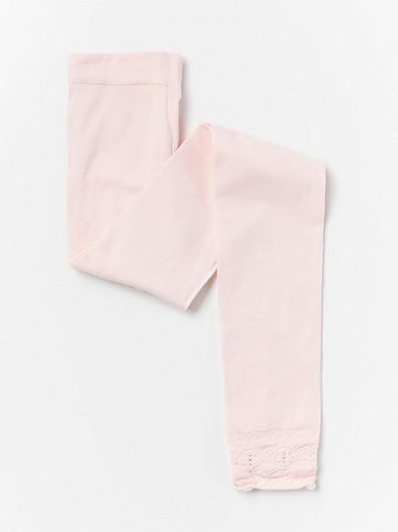 Leggingsit, joissa yksityiskohtia lahkeensuissa, 50 Den Vaaleanpunainen